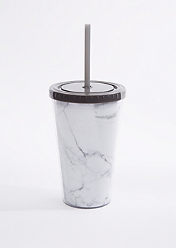 White Marbled Tumbler