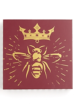 Queen Bee Wooden Wall Mount