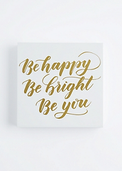 Be Happy Wooden Wall Hanging