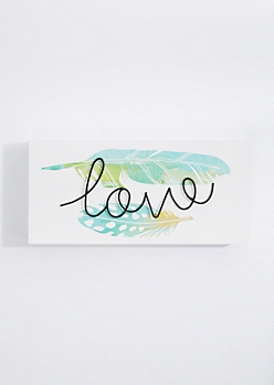 Love Wireframe Box Wall Art