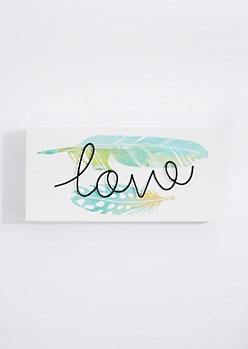Love Wireframe Box Wall Art