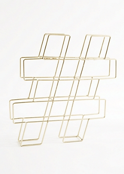 Hashtag Wire Wall & Tabletop Decor