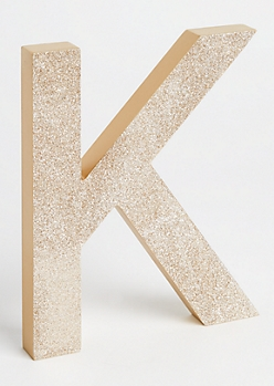 K Gold Glittering Box Sign