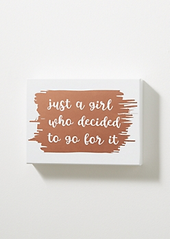 Go For It Metallic Box Wall Art