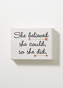 She Believed Vintage Box Wall Art