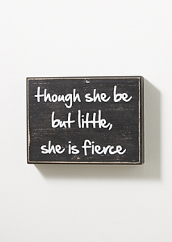 She Is Fierce Box Wall Art