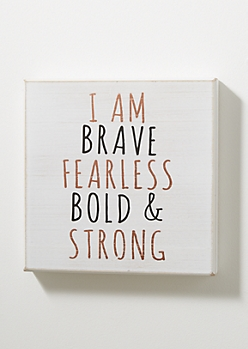 Brave & Fearless Vintage Box Wall Art