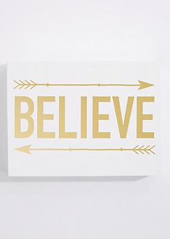 Believe Box Wall Art