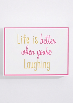 Better Laughing Box Wall Art