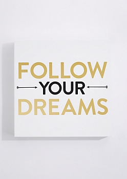 Follow Your Dreams Box Wall Art