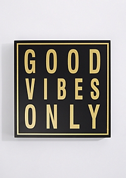 Good Vibes Only Box Wall Art