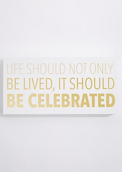 Be Celebrated Box Wall Art