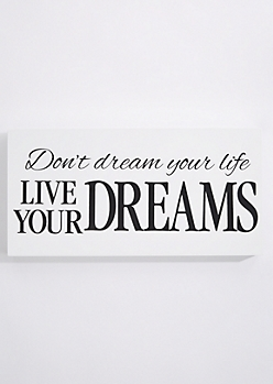 Live Your Dreams Box Wall Art