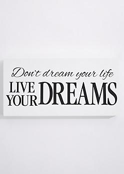 Live Your Dreams Box Wall Art