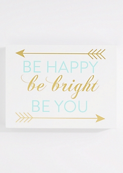 Be Happy Be You Box Wall Art