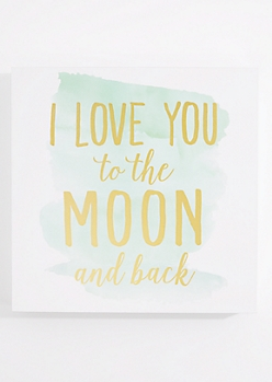 Moon and Back Box Wall Art