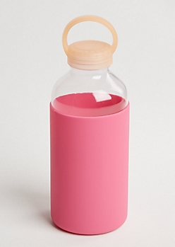 Pink Silicone Sport Bottle