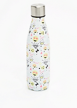 Graffiti Emoji Metal Bottle