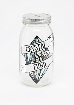 Crystal Fund Mason Jar Bank