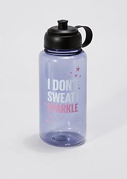 Black I Sparkle Sport Bottle