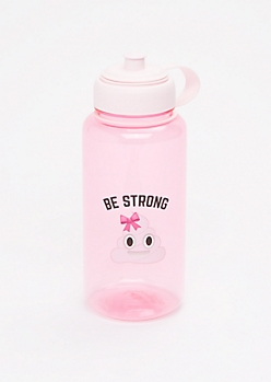Be Strong Poo Emoji Sport Bottle
