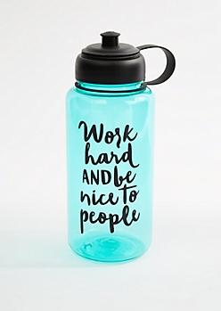Work Hard Sport Water Bottle
