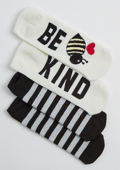 2 Pack Be Kind Ankle Socks
