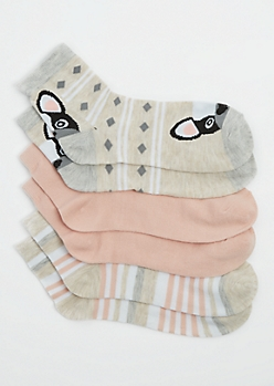 3 Pack Frenchie Crew Socks