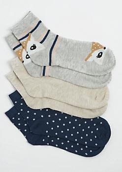 3 Pack Deer Crew Socks