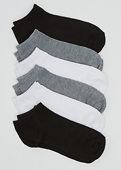 6-Pack Assorted No Show Socks