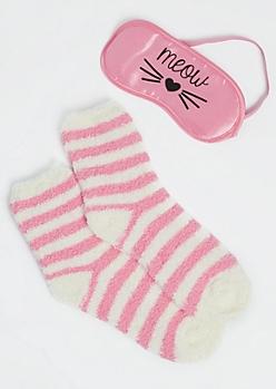 Meow Light Pink Cozy Set