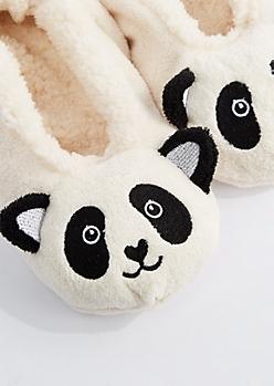 Panda Sherpa Slippers