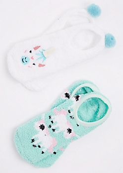 2-Pack of Unicorn Slippers