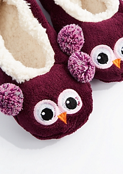 Owl Sherpa Slipper