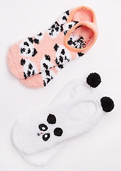 2-Pack Panda Slipper Sock