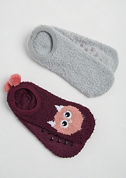 2-Pack Owl Slipper Socks