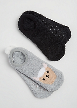 2-Pack Llama Slipper Socks