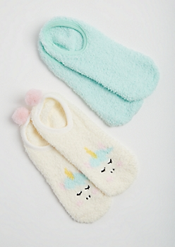 2-Pack Unicorn Slipper Socks