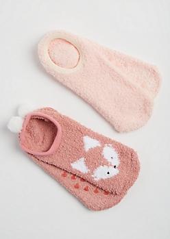 2-Pack Fox Slipper Socks