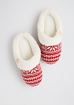 Fair Isle Memory Foam Slippers