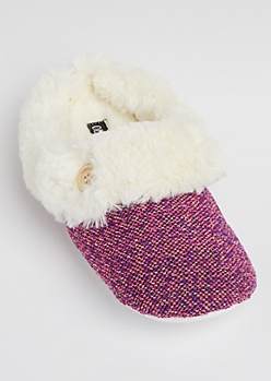 Tweed Sparkle Slipper By Olivia Miller