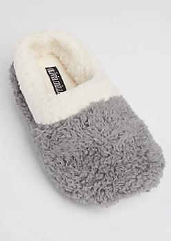 Gray Plush Slipper By Olivia Miller