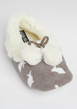 Shadow Bunny Plush Slipper By Olivia Miller
