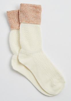 Ivory Extended Cuff Boot Socks