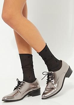 Starry Sheer Crew Socks