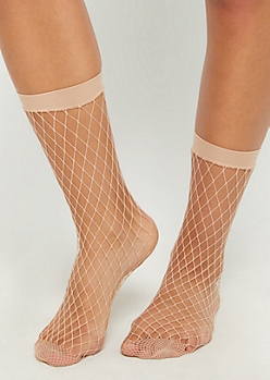 Nude Fishnet Socks