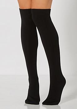 Classic Black Over-The-Knee Socks