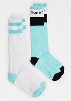2-Pack Squat Knee-High Socks