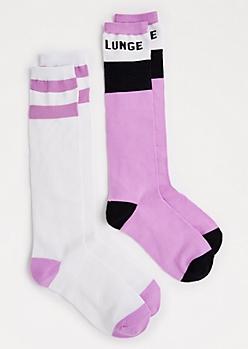 2-Pack Lunge Knee-High Socks