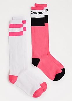 2-Pack Cardio Knee-High Socks